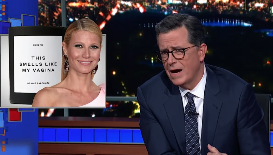 Stephen Colbert Takes Gwyneth Paltrow To The Woodshed Over Her Goop 'Cash Grab'