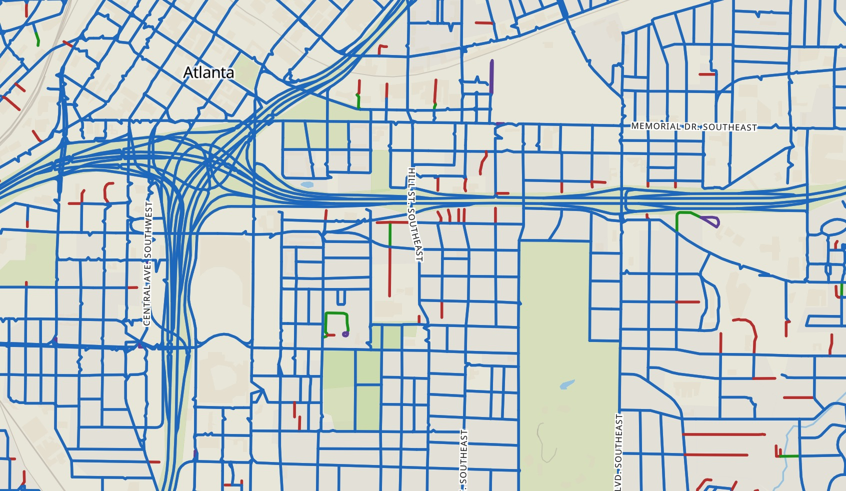 The Street-Network Sprawl Map