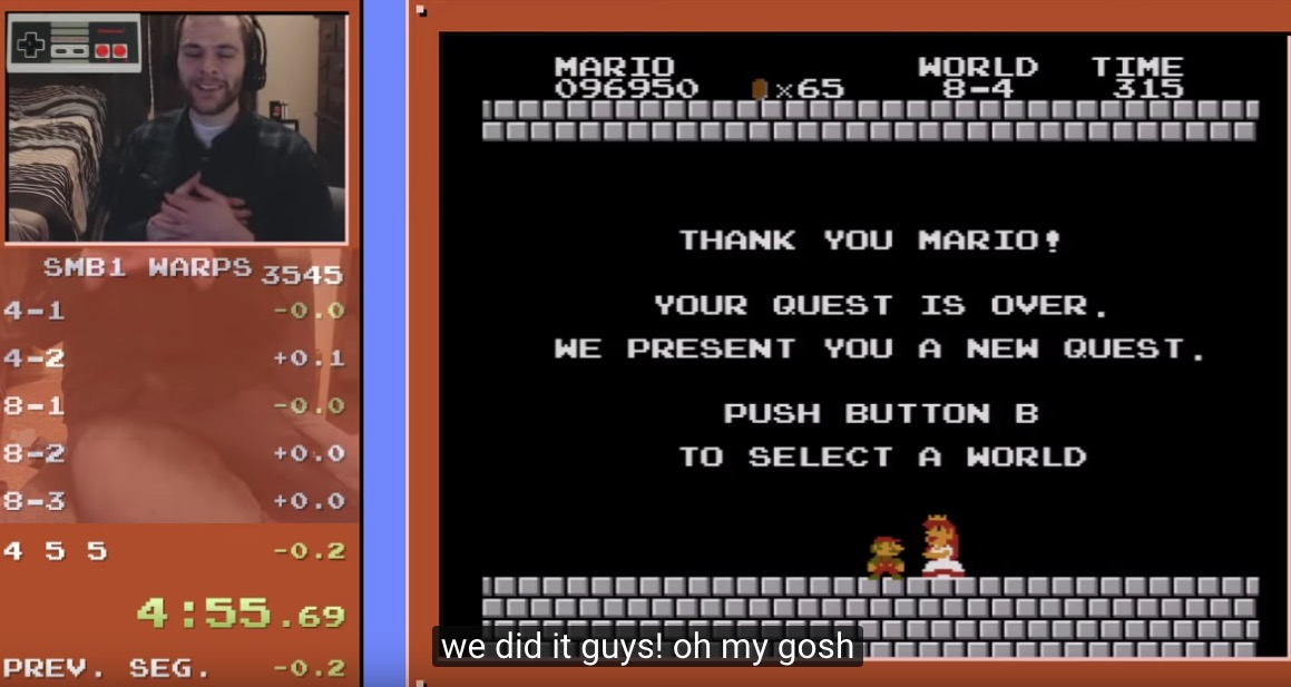 Watch This Guy Play The Fastest 'Super Mario Bros.' Speedrun Of All Time