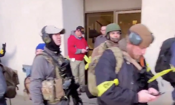 This Line Of Heavily Armed Protesters In Richmond, Virginia Just Keeps On Going