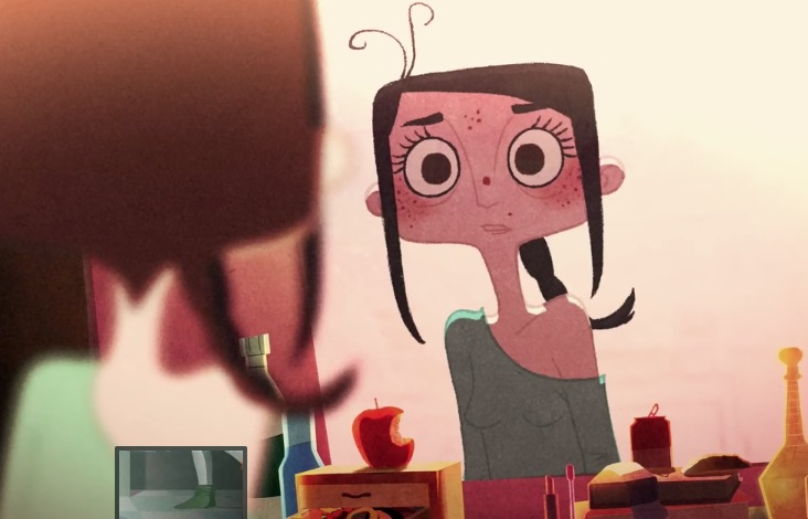 Teenage Girl Panics Over What She Sees In The Mirror In Striking Animated Short Film