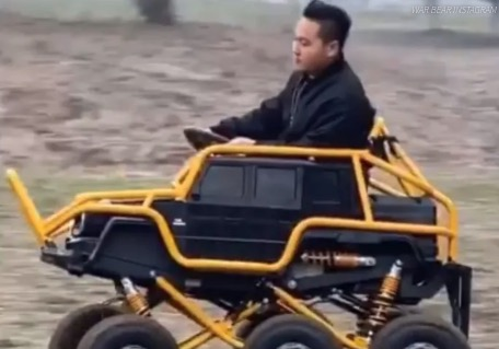 Best Dad Ever Builds His Kid A Six-Wheeled Mercedes-Benz G-Class Toy Car