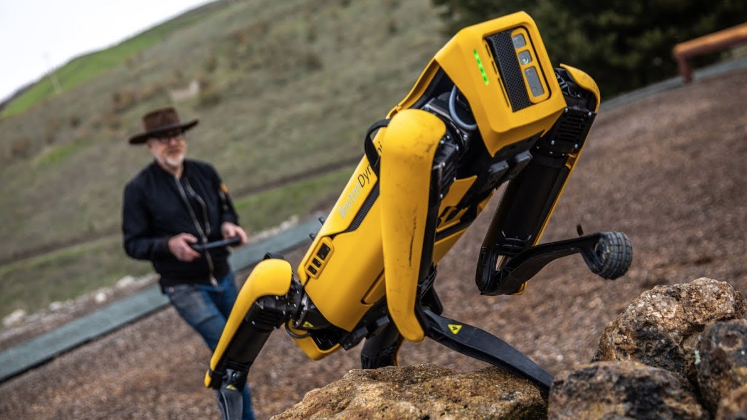 Adam Savage Takes Boston Dynamics' 'Spot' Robot Out For A Test Run And Has The Time Of His Life