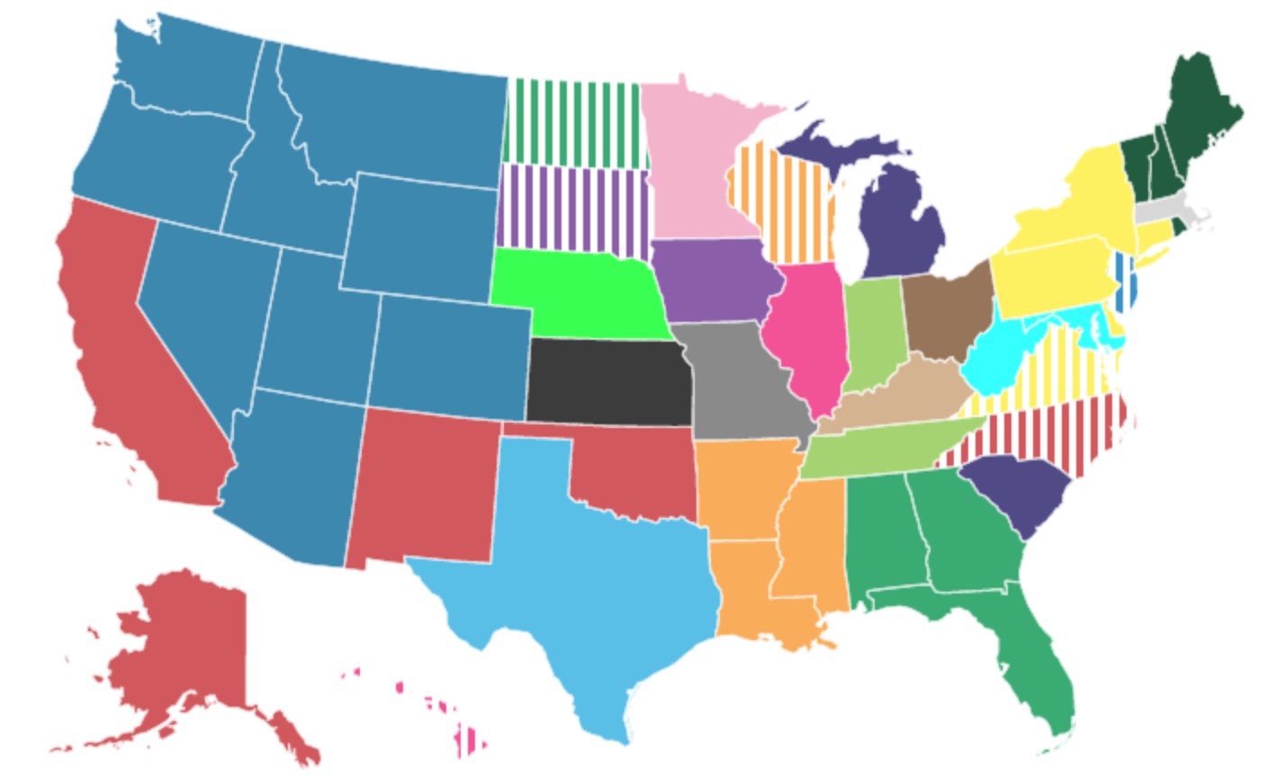 This Map Of The State Each State's Residents Hate The Most Isn't Scientific, But It Is Hilarious - Digg