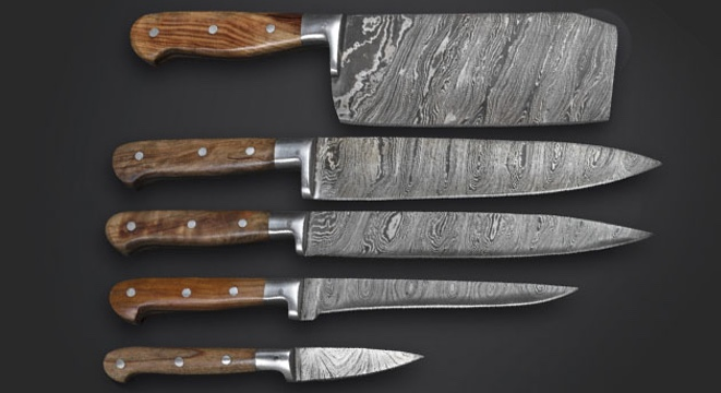 Upgrade Your Kitchen With These 5 Hand-Made Damascus Knives