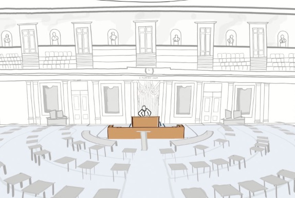 A 3-D Tour Of How The Senate Was Transformed For The Impeachment Trial