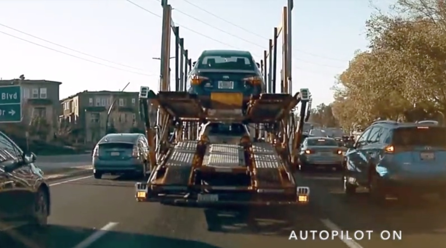 Tesla On Autopilot Goes Haywire, Drives Into Stopped Truck In Front Of It