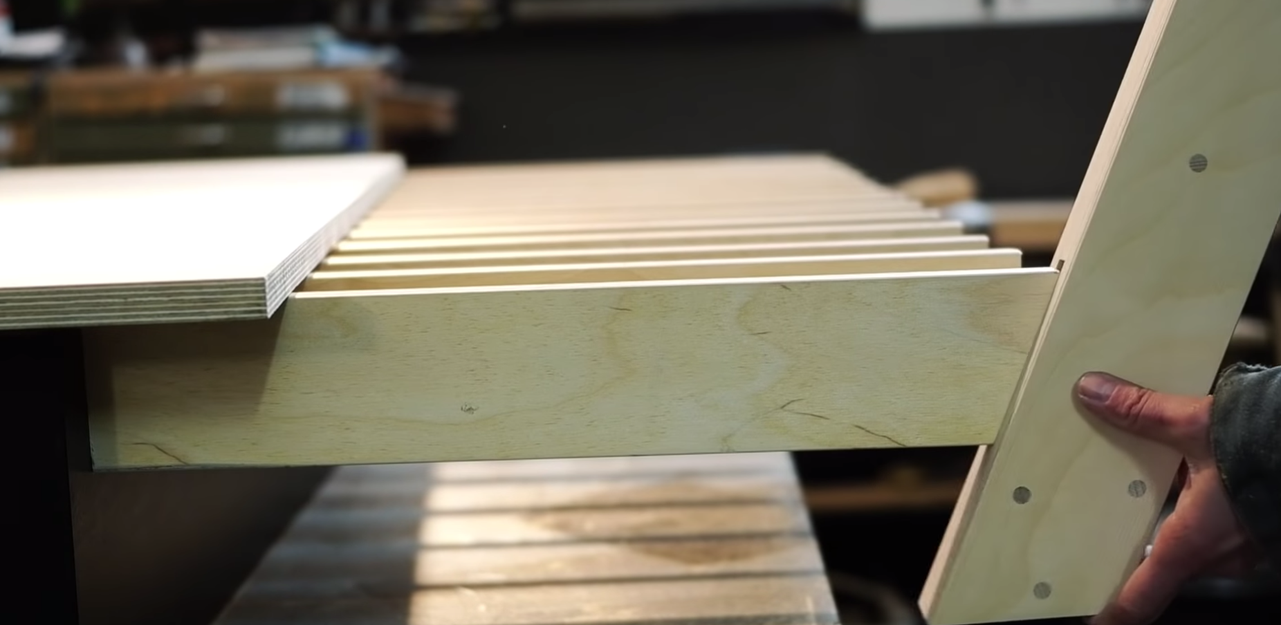 Woman Makes A Bed Using 100% Wood And No Metal Screws