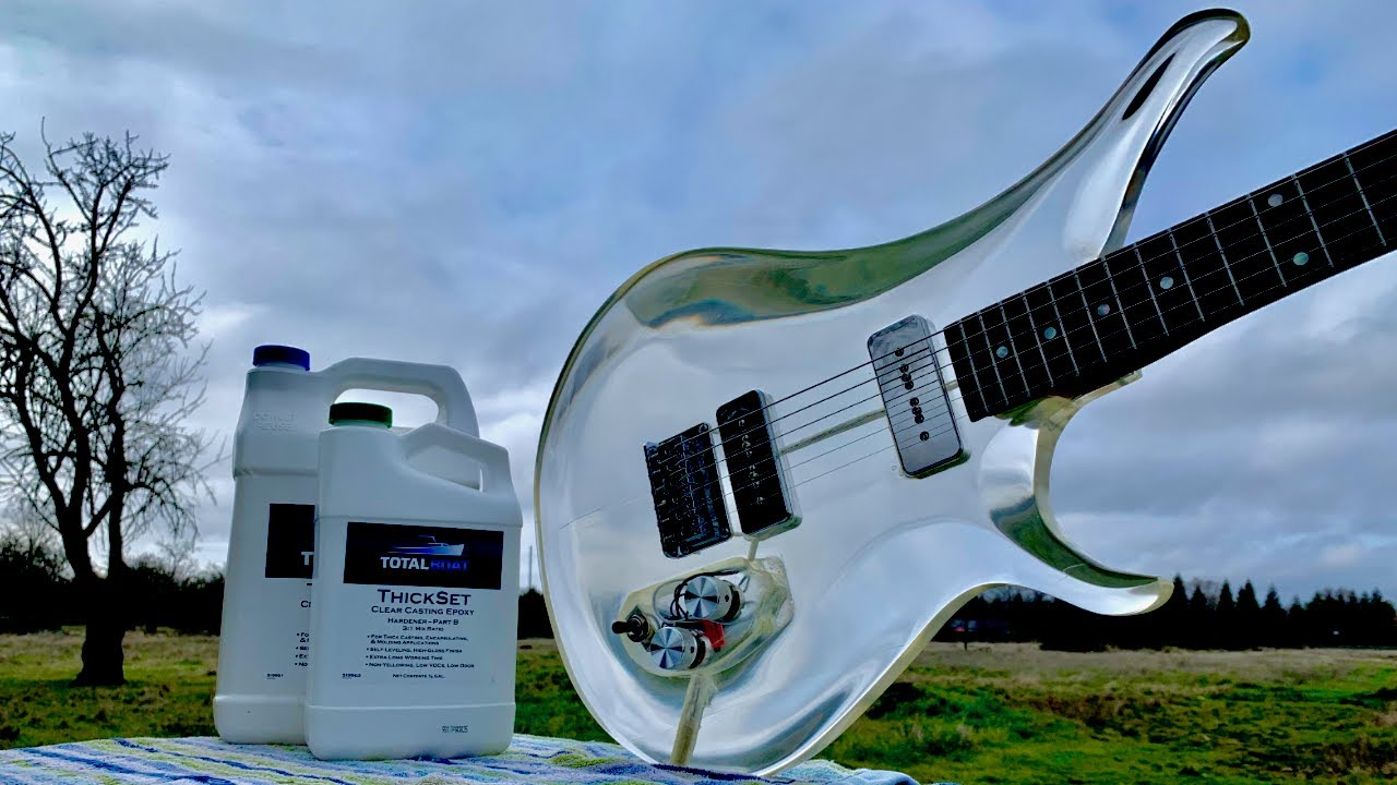 Guy Crafts A Clear Guitar With Epoxy Resin And It Really Is A Thing Of Beauty