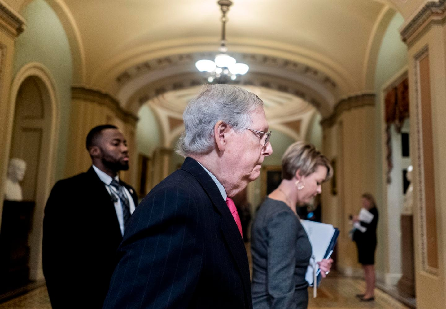 McConnell Tells Senators He Doesn't Yet Have Votes To Block Witnesses In Trump Impeachment Trial