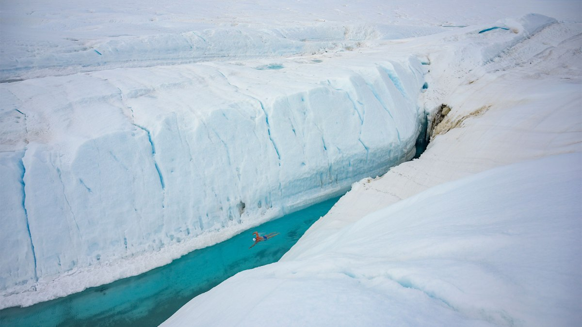 Antarctica's Glaciers Are Melting So Fast, You Can Swim In Them