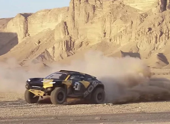 Watch Ken Block Burn Rubber In This Extreme E Electric Race Car At The Dakar Rally