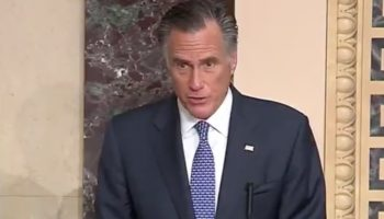 Mitt Romney Breaks Ranks And Votes To Convict Trump On Abuse Of Power Charge — Watch His Speech To The Senate