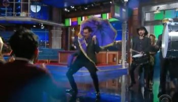 Jim Carrey Made The Most Over-The-Top Mardi Gras-Style Entrance On 'The Late Show'