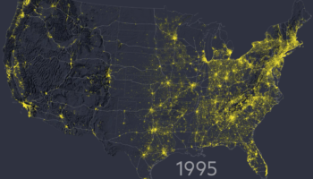A Fascinating Visualization Of How Population Has Spread Through The US Since 1810