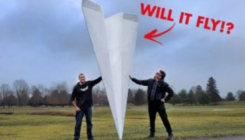 YouTubers Attempt To Break The World Record For Largest Remote Control Paper Airplane
