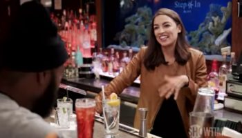 Alexandria Ocasio-Cortez Returns To The Bronx And Proves She Still Knows How To Mix Drinks