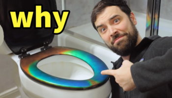 We're Not Sure What We Think About The Creation Of This Mood Ring Toilet Seat