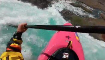 Kayaker Jumps Down 134-Foot Waterfall And, Uh, Holy Crap