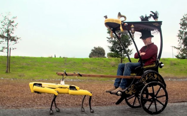 'Mythbusters' Host Adam Savage Built A Rickshaw And Had Boston Dynamics' 'Spot' Pull Him Around