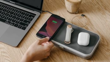 This Wireless Charger Also Helps Keep Your Desk Clutter-Free