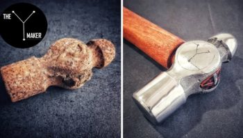Watch This Rusty Old Hammer Get Impeccably Restored To Look Like New