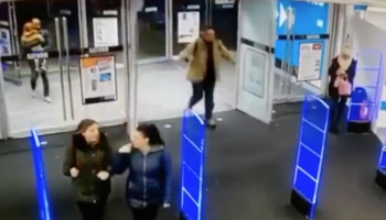 Man Makes An Entrance Into Store So Huge That It Literally Shatters Glass