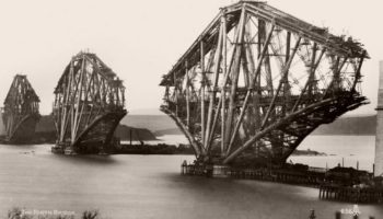 Photos From The Construction Of The Forth Railway Bridge, A 19th Century Engineering Marvel
