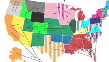 This Map Shows What Each State's Favorite Other State Is And It's Priceless