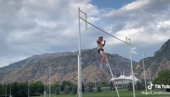 College Pole Vaulter Lands Crotch-First On His Pole, Needs 18 Stitches