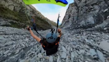 This Speedflyer Descent Through A Rocky Ravine Is Sheer Insanity