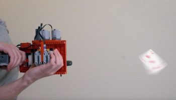 Man Builds Playing Card Machine Gun Out Of Legos And Has The Time Of His Life