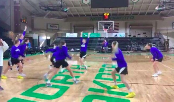 Watch South Dakota State Women's Basketball Team Nail 5 Half-Court Shots In A Row