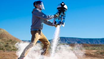 YouTubers Create A Five-Gallon Liquid Nitrogen Rocket, Test To See If It Can Actually Fly