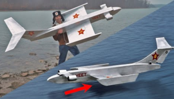 Man Designs A Model Of The Ekranoplan, The Russian 'Sea Skimmer' Plane, Tests To See If He Can Actually Fly It
