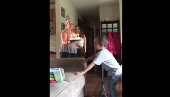 Kid Has Surprisingly Wholesome Reaction To Birthday Cake Being Dropped