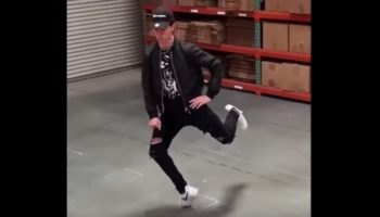 This Dancer's Moonwalking Is Impossibly Smooth