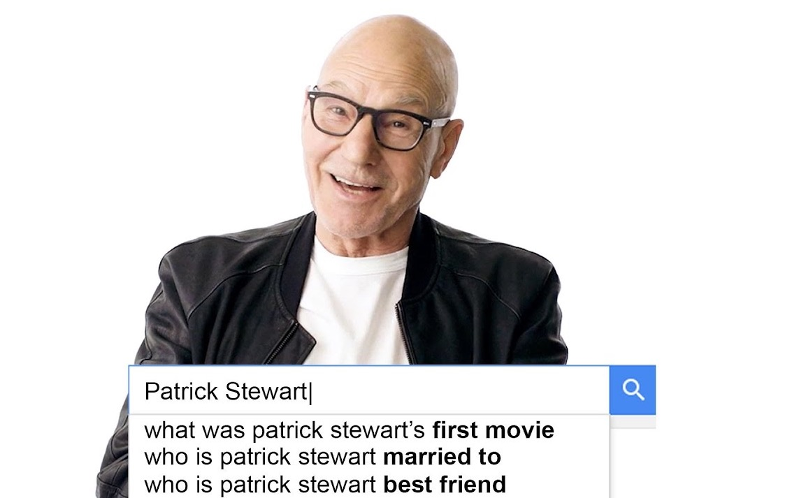 Patrick Stewart Answers Google's Most Frequently Searched Questions