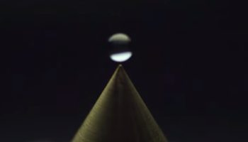 The Fascinating Thing That Happens When You Drop A Droplet Of Water On A Hydrophobic Cone