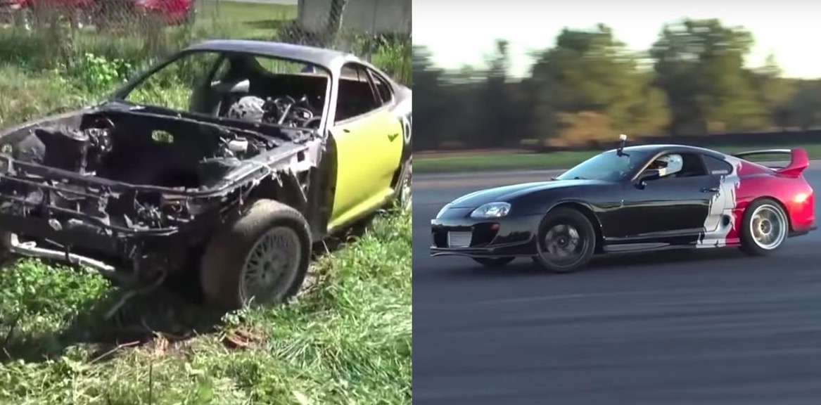 Man Finds A Toyota Supra Abandoned In A Field And Makes It Look Like A Million Bucks