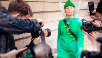 A Grandmother Gatecrashes Fashion Week And Makes A Splash With The Help Of Two Cheeky Lads