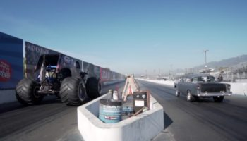 How Does A Monster Truck Fare Against A Hot Rod In A Drag Race?