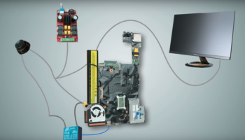Instead Of Throwing Away A Broken Laptop, Guy Transforms It Into An All-In-One Desktop PC
