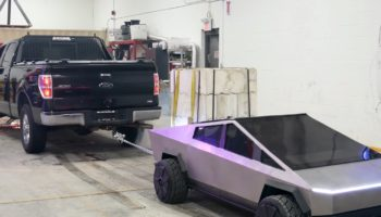 YouTubers Build A 1/2-Scale Cybertruck, Test It Against A Ford F-150 In A Tow Test