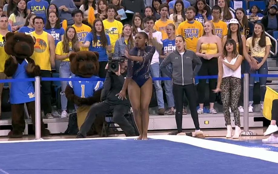 Watch UCLA Gymnast Nia Dennis Absolutely Crush This Beyonce-Themed Floor Exercise