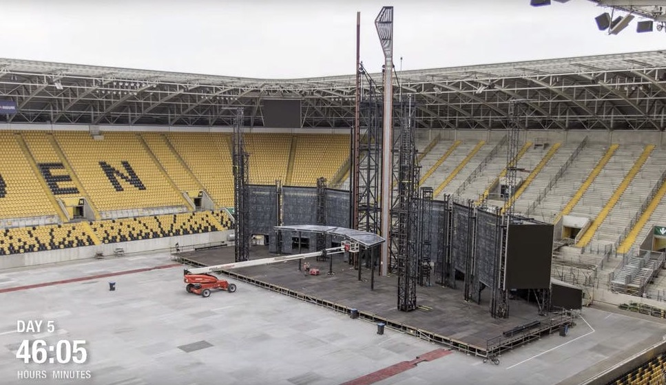 This Time Lapse Of A Rammstein Concert Being Set Up Over 60 Hours Is Extraordinary