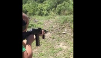 Guy Shoots Aerosol Can With AK-47, Instantly Regrets It