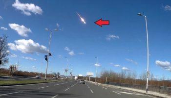 Dashcam Captures Dramatic Fireball Crashing Down To Earth Over Croatia