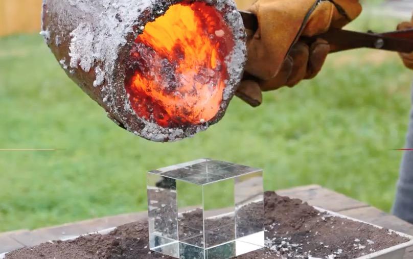 What Would Happen If You Poured Molten Lava On A Fidget Cube?