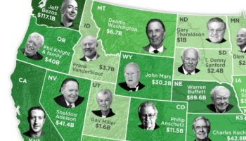 The Richest Person In Every American State, Visualized